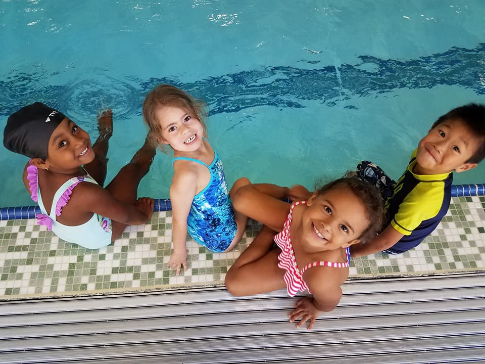 Friends Swimming at Springfield JCC Aquatics camp