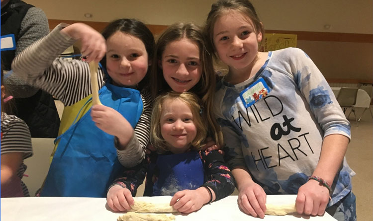 camp fun cooking challah