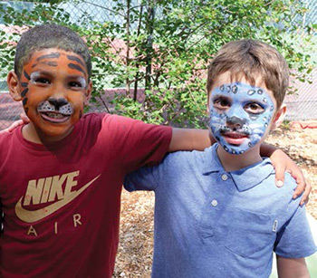 This is a photo of children with face paint at the Springfield JCC Summer Camp