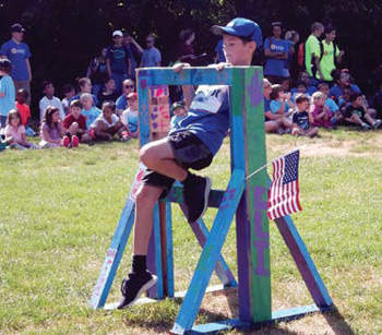 This is a photo of a child at the Springfield JCC Summer Camp